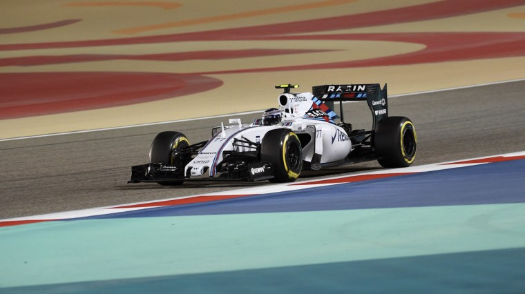 Williams Martini Racing Finnish driver Valtteri Bottas races during the Formula One Bahrain Grand Prix at the Sakhir circuit in the desert south of the Bahraini capital, Manama, on April 19, 2015. (Fayez Nureldine/AFP/Getty Images)