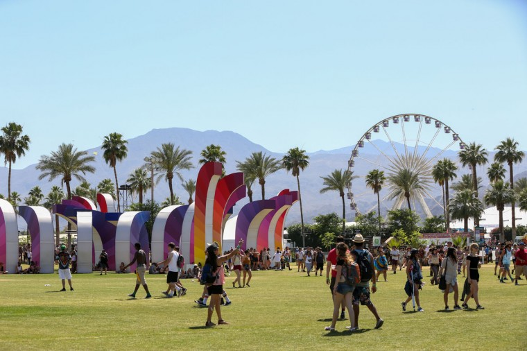 The Empire Polo Field seen at the 2015 Coachella Music and Arts Festival on Friday, April 17, 2015, in Indio, Calif. (Photo by Rich Fury/Invision/AP)