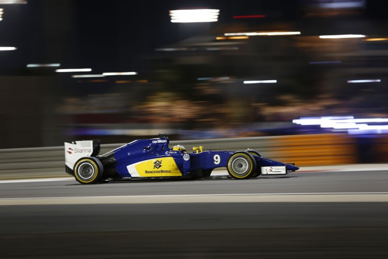 Sauber driver Marcus Ericsson of Sweden steers his car during the Bahrain Formula One Grand Prix at the Formula One Bahrain International Circuit in Sakhir, Bahrain, Sunday, April 19, 2015. (AP Photo/Hassan Ammar)