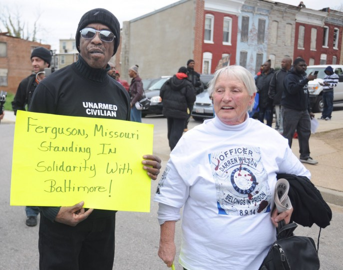 Saturday March and rally related to the death of Freddie Gray. (Kim Hairston/Baltimore Sun)