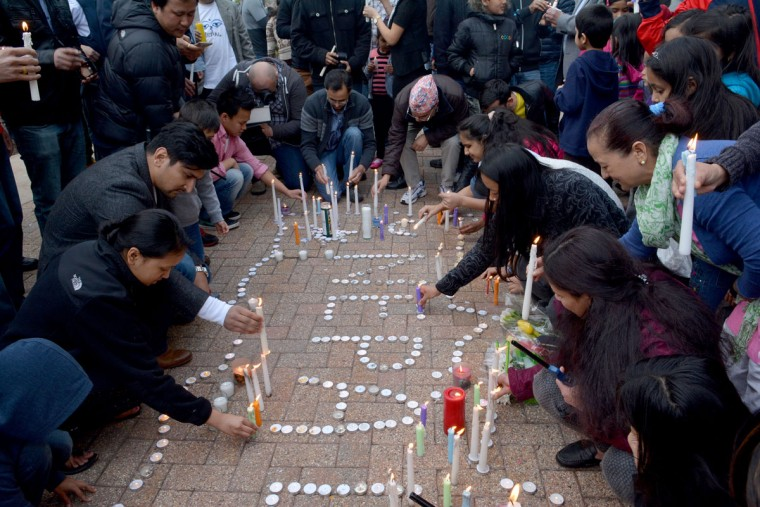 Connecticut's Nepalese community held a candlelight vigil for the victims of the Nepal earthquake on Sunday, April 26, 2015, in Hartford, Conn. (Marc-Yves Regis I/Hartford Courant/TNS)