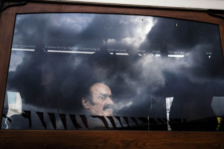 A man looks out of the window of a tram at Taksim Square in Istanbul. Turkey's central bank decided to leave interest rates unchanged but implement two secondary policy measures aimed at supporting the embattled Turkish lira. (Dimitar Dilkoff/AFP/Getty Images)