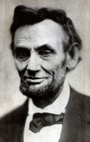 Abraham Lincoln-- A photograph by Alexander Gardner, taken April 10, 1865, five days before the assassination. From the Meserve collection, Library of Congress.