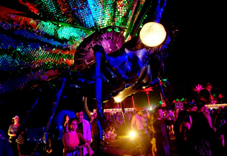Papilio Merraculous art installation by Poetic Kinetics is seen during day 3 of the 2015 Coachella Valley Music & Arts Festival (Weekend 1) at the Empire Polo Club on April 12, 2015 in Indio, California. (Photo by Frazer Harrison/Getty Images for Coachella)