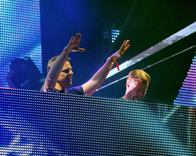 DJs Markus Schulz and Ferry Corsten of New World Punx perform onstage during day 3 of the 2015 Coachella Valley Music & Arts Festival (Weekend 1) at the Empire Polo Club on April 12, 2015 in Indio, California. (Photo by Mark Davis/Getty Images for Coachella)