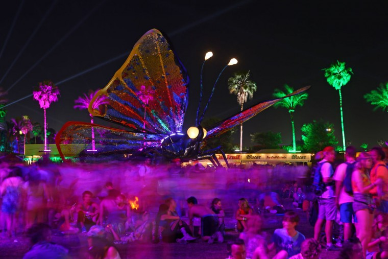 The art installation Papilio Merraculous at Coachella Music and Arts Festival - Weekend 2 on Saturday, April 18, 2015 in Indio, CA. (Photo by Zach Cordner/Invision/AP)