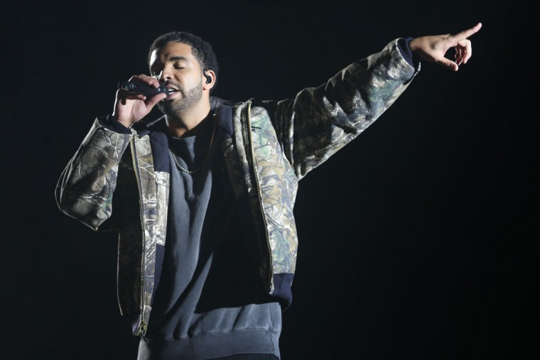 Drake performs at the 2015 Coachella Music and Arts Festival on Sunday, April 19, 2015, in Indio, Calif. (Photo by Rich Fury/Invision/AP)