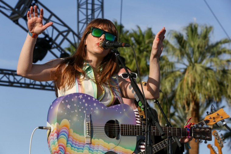 Jenny Lewis performs at the 2015 Coachella Music and Arts Festival on Sunday, April 19, 2015, in Indio, Calif. (Photo by Rich Fury/Invision/AP)