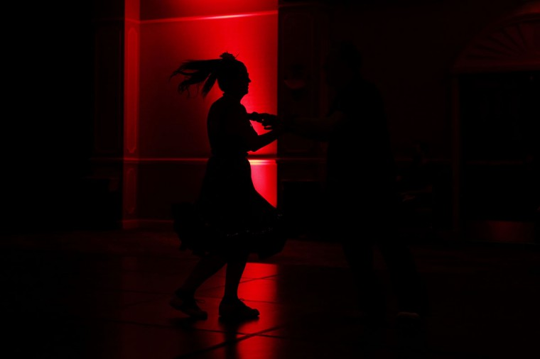 In this April 5, 2015, photo, a woman dances at the Viva Las Vegas Rockabilly Weekend in Las Vegas. The swing, jive and two-step dominated the dance floors at the event. (AP Photo/John Locher)