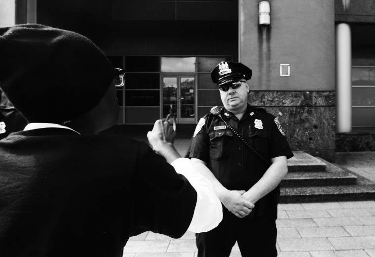 April 20: For the first time protesters show up at BCPD headquarters to protest the death of Freddie Gray, who had died the day before. See more photos from the day here.