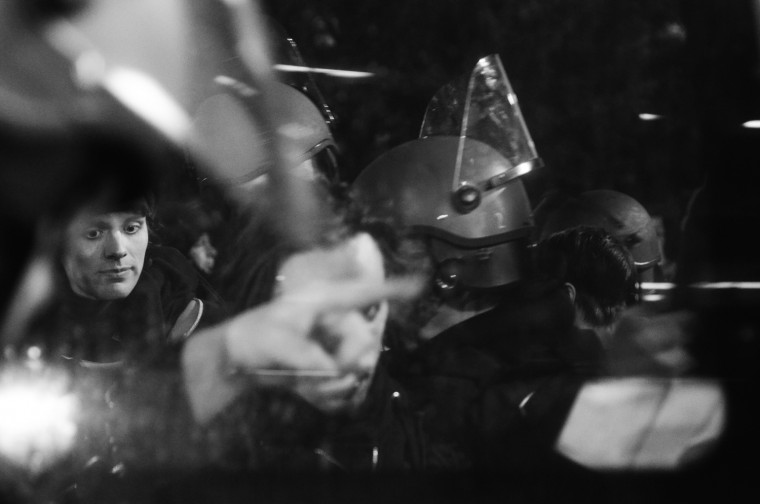 May 1: Despite the peaceful protests, marchers are arrested at City Hall for curfew violations. BCPD tweet: Officers are arresting protesters who refused to leave after the curfew went into effect. See mire photos from the day here.