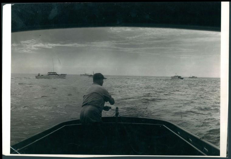 Fishing in Ocean City, 1943.