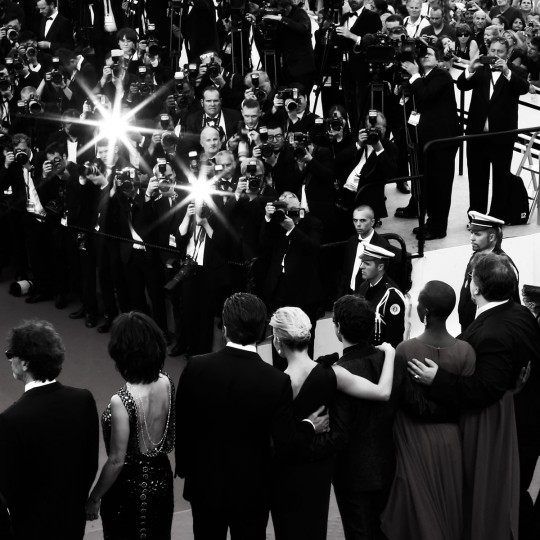 Cast attend the opening ceremony and premiere of 'La Tete Haute' during the 68th annual Cannes Film Festival on May 13, 2015 in Cannes, France. (Photo by Andreas Rentz/Getty Images,)