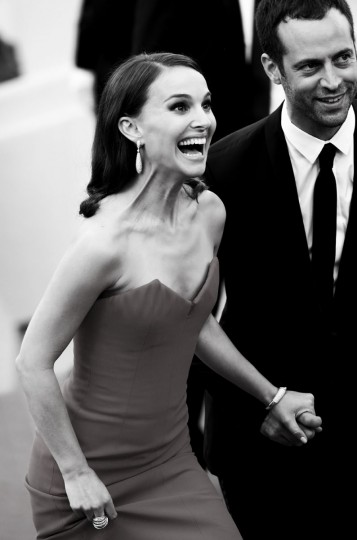 Actress Natalie Portman and choreographer Benjamin Millepied attend the opening ceremony and premiere of 'La Tete Haute' during the 68th annual Cannes Film Festival on May 13, 2015 in Cannes, France. (Photo by Andreas Rentz/Getty Images,)