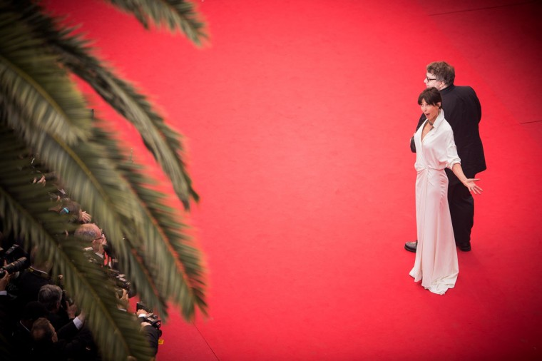 "Sophie Marceau and Guillermo del Toro attend the Premiere of ""Mad Max: Fury Road"" during the 68th annual Cannes Film Festival on May 14, 2015 in Cannes, France. (Photo by Francois Durand/Getty Images)"
