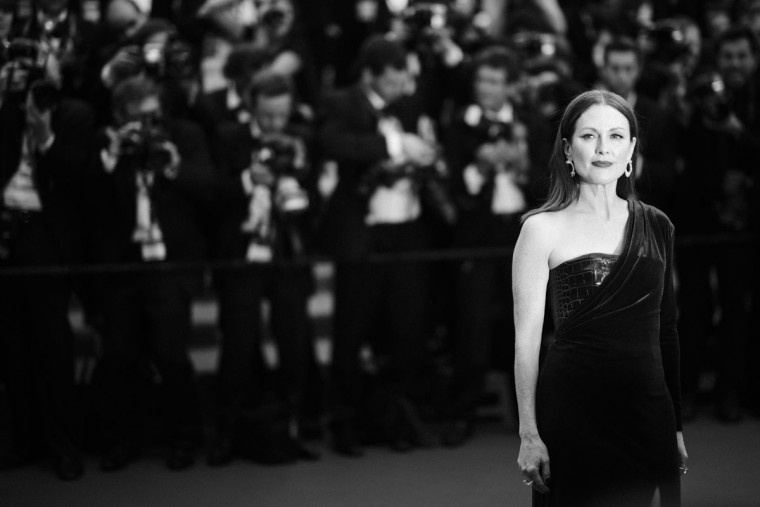 "An alternative view of Julianne Moore attending the premiere of ""Mad Max: Fury Road"" during the 68th annual Cannes Film Festival on May 14, 2015 in Cannes, France. (Photo by Clemens Bilan/French Select)"