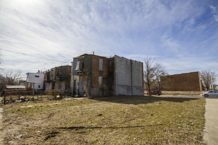 3/2015: A walk through Druid Heights shows the rowhouse architecture, many vacant or rehabbed and lots where shanty's once were. (Kalani Gordon/Baltimore Sun)