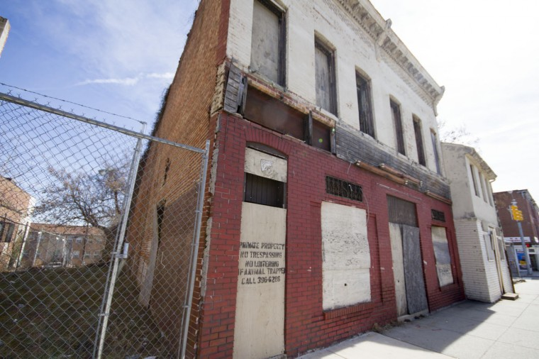 3/2015: The former Sphinx Club at the western edge of Druid Heights. (Kalani Gordon/Baltimore Sun)