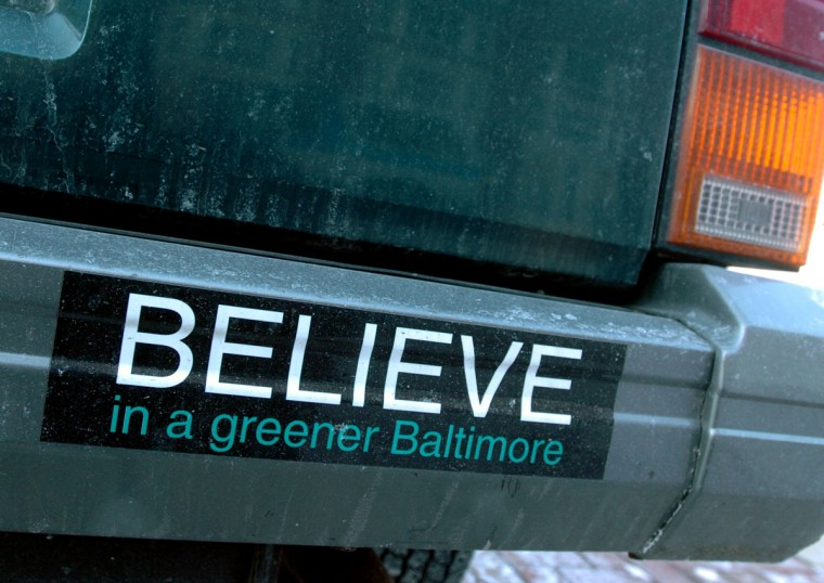 "New mayor Sheila Dixon is thinking about a new slogan for the city. One of the slogans under former Mayor Martin O'Malley was ""Believe."" Algerina Perna, Baltimore Sun"