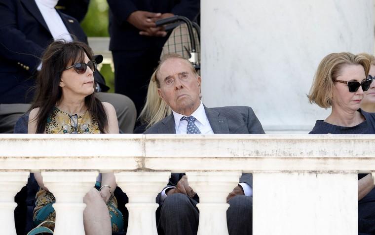 Former Senate Majority Leader Bob Dole attends a Memorial Day event at Arlington National Cemetery on Monday, May 25, 2015, in Arlington, Va. (Olivier Douliery/Abaca Press/TNS)