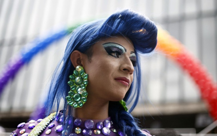 A reveller takes part in the annual Gay Pride Parade in Sao Paulo, Brazil on June 7, 2015. (Miguel Schincariol/AFP/Getty Images)