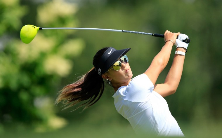 Michelle Wie of the U.S. during her practice round for the 2015 KPMG Women's PGA Championship on the West Course at Westchester Country Club in Harrison, New York. (David Cannon/Getty Images)
