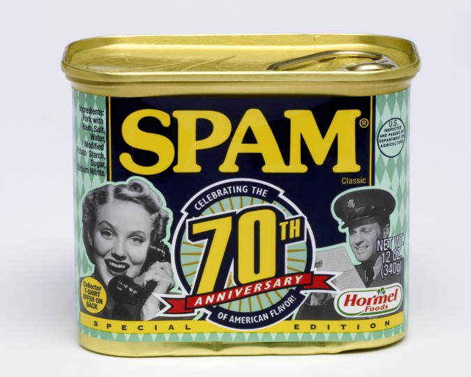 July 5, 1937: SPAM (not the annoying emails) was introduced by Hormel Foods. According to its website, a man named Ken Diagneau, who was the brother of a Hormel vice president, won a $100 contest for providing the name. (File photo)