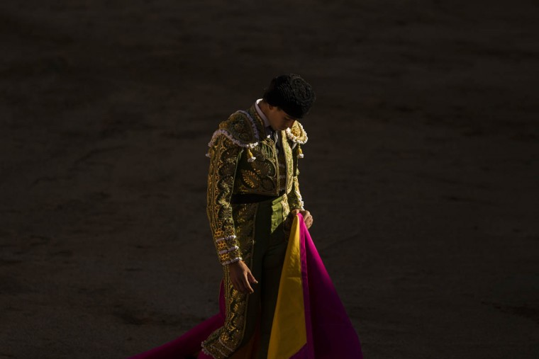 Jimenez Fortes walks away during a bullfight of the San Fermin festival in Pamplona, Spain, Wednesday, July 8, 2015. (Andres Kudacki/AP photo)