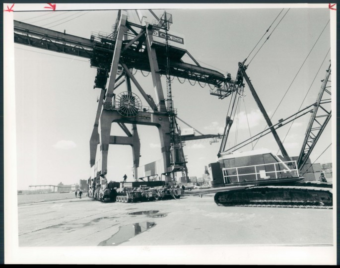 The Locust Point Marine Terminal South is pictured on April 21, 1988. (Baltimore Sun photo)