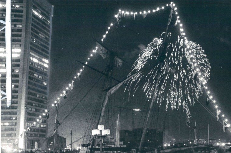 Fireworks during an Independence Day celebration in 1981. (Danielle M. Pallotto/Baltimore Sun)