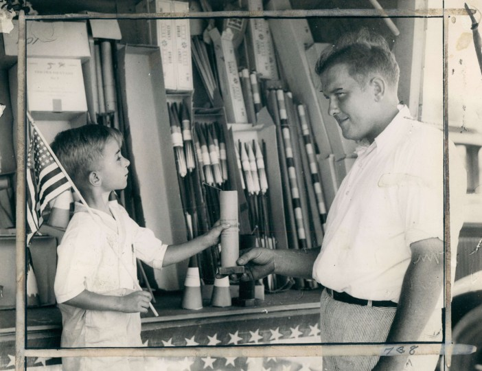 Buying fireworks for the 4th of July, 1933. (Baltimore Sun archives)