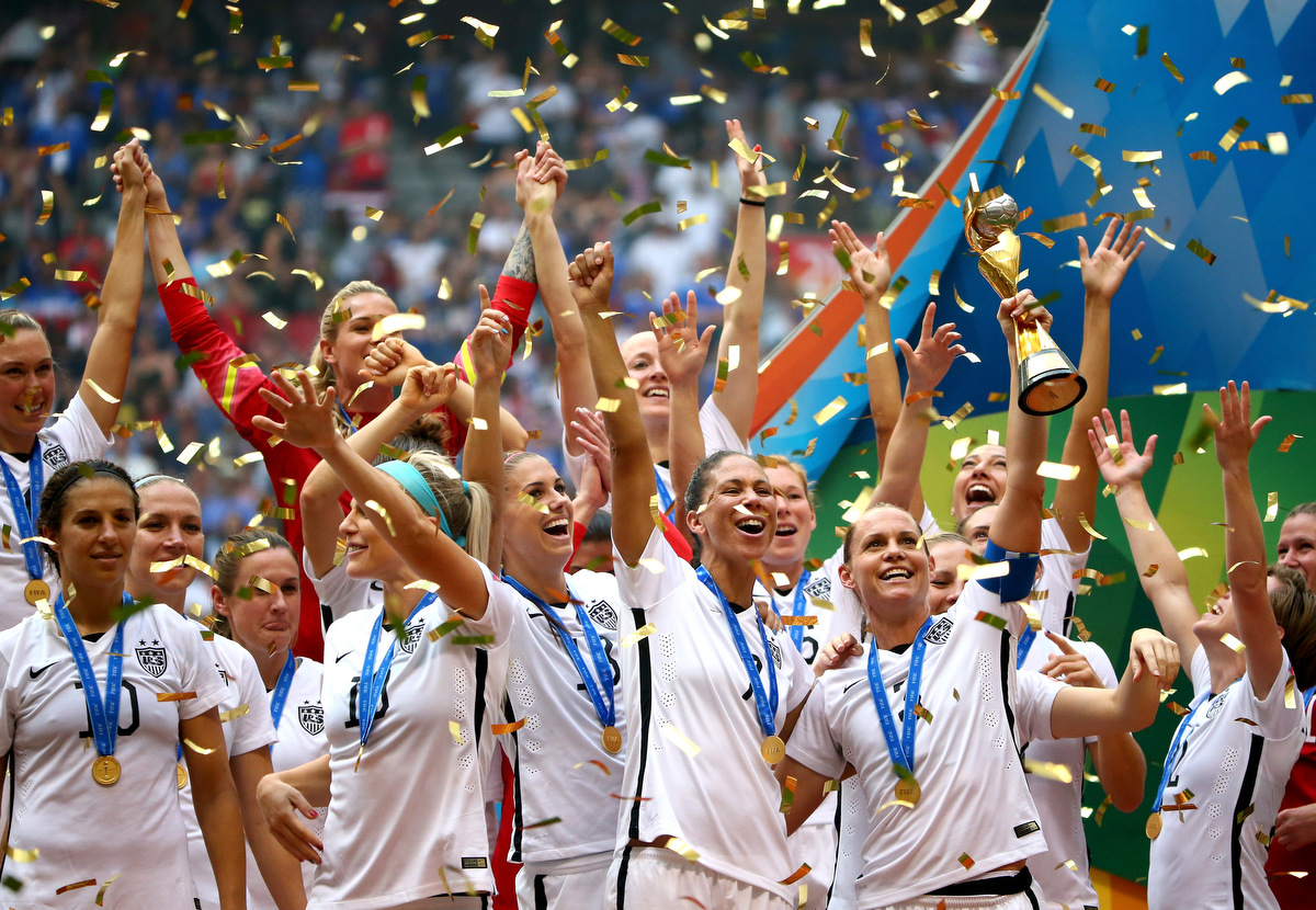 Picture of a world cup wins football womens