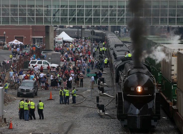 ROANOKE, VA - JULY 03: The recently restored former Norfolk and Western Railway J class steam locomotive 611 prepares to disembark on an excursion July 3, 2015 in Roanoke, Virginia. The 611 was originally retired and replaced by diesel locomotives in 1959 and now is running excursions on a limited schedule. (Photo by Mark Wilson/Getty Images)