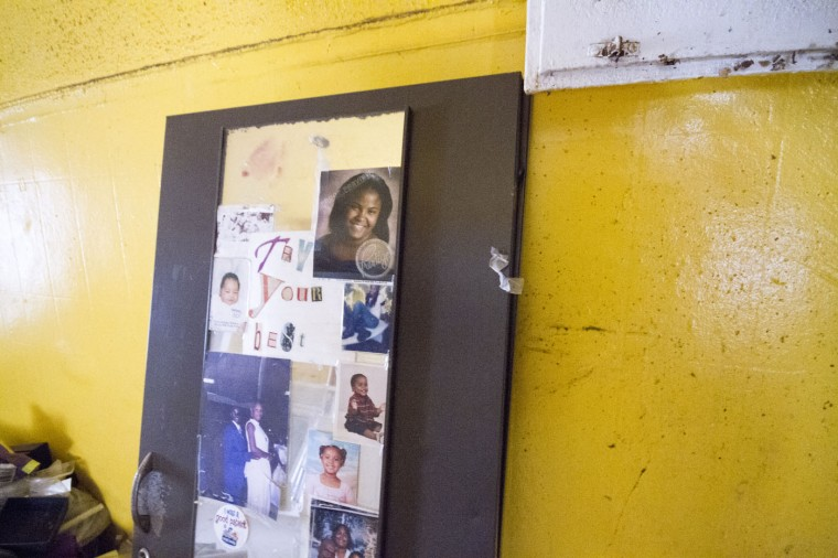 Many personal items could still be found inside the vacant rowhomes in the 900 block of N. Port Street. Many of the homes have sat uninhabited for decades after being lived in for a hundred years. (Kalani Gordon, Baltimore Sun)