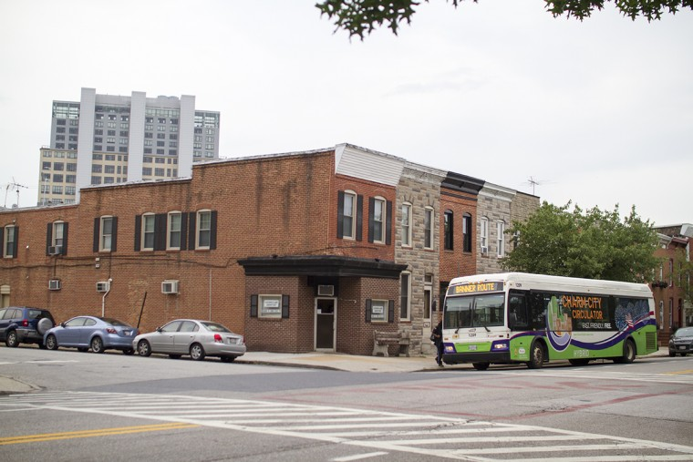 The Banner Route, a Charm City Circulator line, along Fort Avenue in Baltimore. (Kalani Gordon, Baltimore Sun, June 17)
