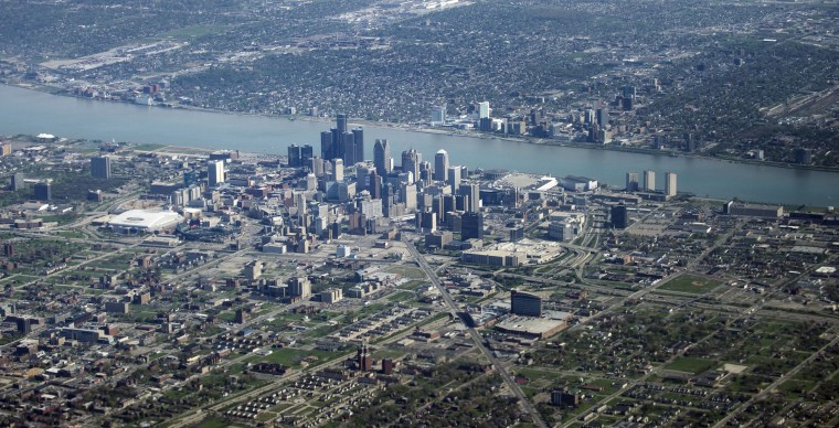 July 18, 2013: The city of Detroit filed for Chapter 9 bankruptcy on July 18, 2013, making it the largest bankruptcy of a city (by population size) in U.S. history. (AFP PHOTO/Brendan SMIALOWSKIBRENDAN SMIALOWSKI/AFP/Getty Images)