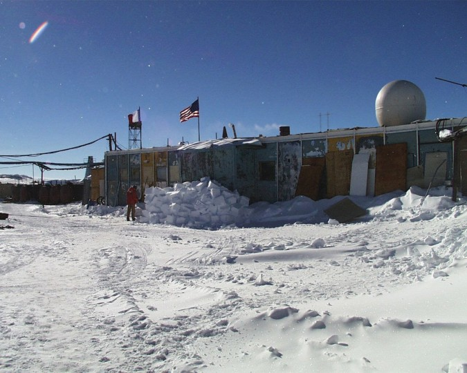 July 21, 1983: At Vostok Station, Antarctica on July 21, 1983, the lowest temperature on Earth in an inhabited location is recorded at -128.6 F. (Photo by Josh Landis/National Science Foundation)