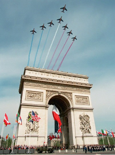 July 29, 1836: Paris' Arc de Triomphe is officially inaugurated. Its construction was commissioned in 1806 by Napoleon Bonaparte, but was halted for several years during his abdication. ( AFP PHOTO)