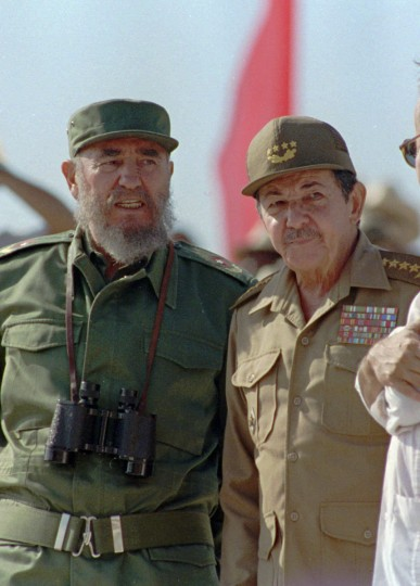 July 31, 2006: Fidel Castro steps down as the leader of Cuba and hands over the power to his brother, Raul. (AP Photo/files)