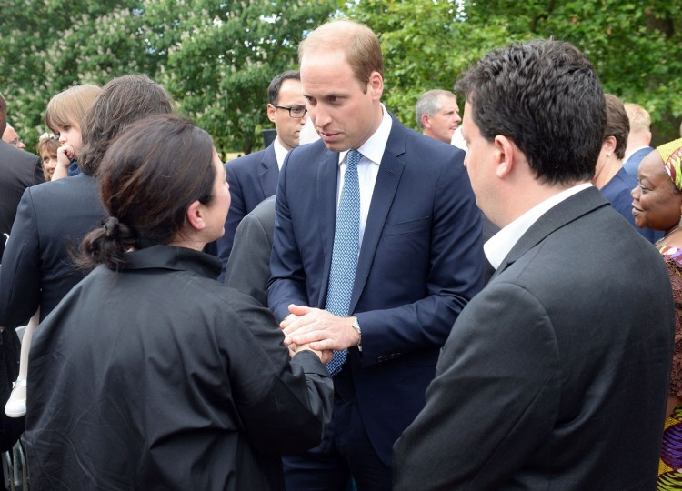 Prince William, Duke of Cambridge speaks to 7/7 survivor Gill Hicks (left) following a service at the July 7 memorial in Hyde Park to commemorate the 10th anniversary of the London 7/7 bombings on July 7, 2015 in London, England. (Photo by Anthony Devlin - WPA Pool/Getty Images)
