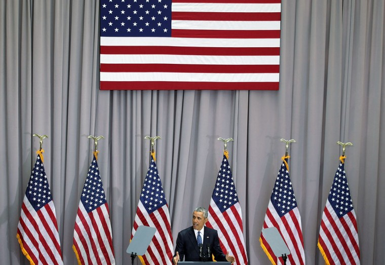 U.S. President Barack Obama speaks about the Iran nuclear agreement August 5, 2015 at American University in Washington, DC. Obama is pushing for congress to approve the nuclear deal reached with Iran. (Photo by Alex Wong/Getty Images)