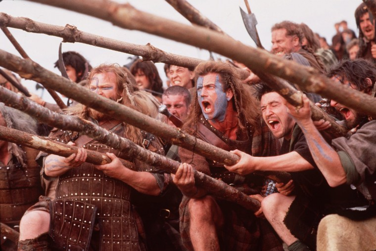 Aug. 5, 1305: William Wallace, whose story of leading the Scottish resistance was told in the 1995 film Braveheart and portrayed by Mel Gibson, is captured by the English. (AP Photo/files/Paramount Pictures)