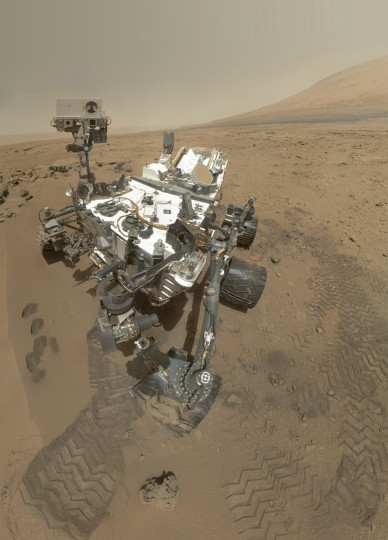 Aug. 6, 2012: NASA's rover Curiosity lands on the surface of Mars and begins exploring and analyzing the planet. (MUST CREDIT: NASA/ JPL-Caltech/ Malin Space Science Systems)