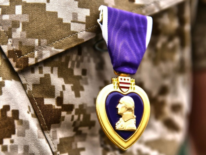 Aug. 7, 1782: The Badge of Military Merit is created by President George Washington. It later became known as the Purple Heart. (U.S. Marine Corps photo by Cpl. Timothy Childers)