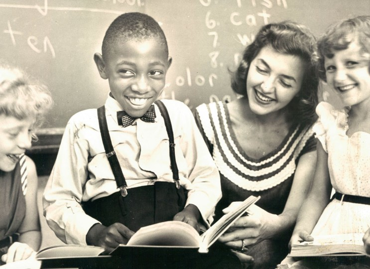 Charles Thompson at school. (Richard Stacks/Baltimore Sun, 1954)