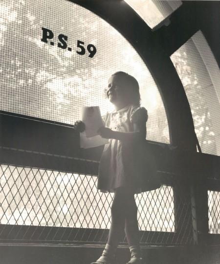 Karen Greenberg waits for her mother to register her at school. (W.M. Klender/Baltimore Sun, 1955)