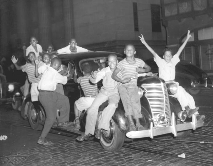 Celebrations in Baltimore. (Baltimore Sun archives)