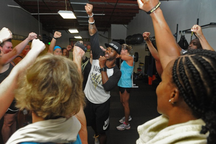 Eric Atherton is a group fitness instructor and gym club owner at E.A. Fit Club. Learn more about him. (Kim Hairston/Baltimore Sun)