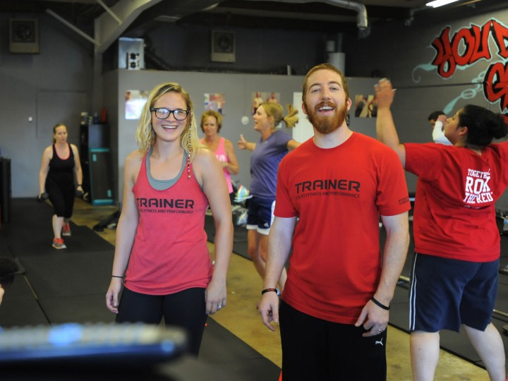 Brandie and Ben Stocks are gym owners, personal trainers, and group fitness instructors at Stocks Fitness and Performance. Learn more about them. (Lloyd Fox/Baltimore Sun)