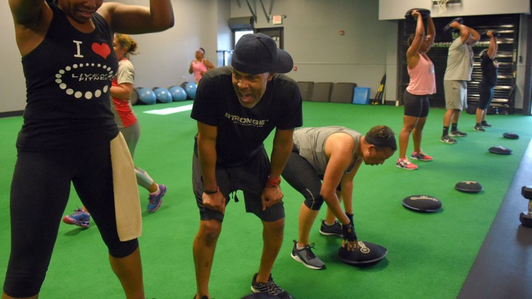 David Girton Jr. is a personal trainer, group instructor, wellness coach and founder/owner of LiveNow Fitness. Learn more about him. (Karl Merton Ferron/Baltimore Sun)